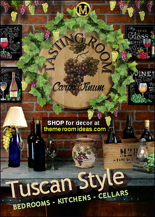 Decorating Theme Bedrooms Maries Manor Tuscan Farmhouse Decor Rustic Grape Wine Barrel Vineyard Kitchen Bedroom Ideas Inspired Furniture