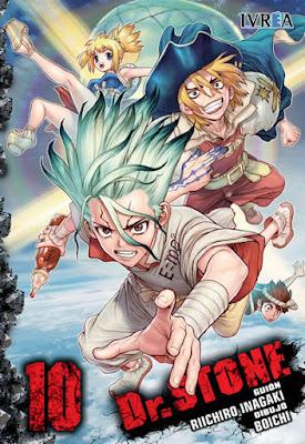 """Reseña de """"Dr. STONE"""" vols. 10 y 11 de Riichiro Inagaki y Boichi - Ivrea"""