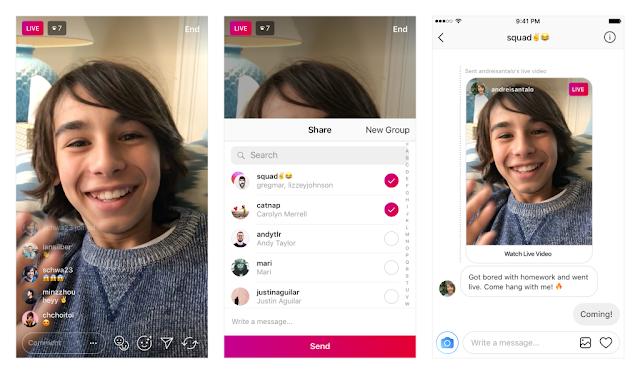 Instagram Kini Dapat Mengirim Live Video Ke Teman