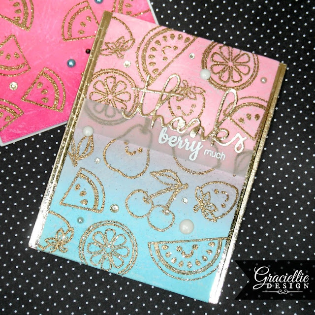 Sunny Studio Stamps Fresh & Fruity Card by Graciellie Design