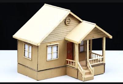 Ide Kreatif Miniatur Rumah Dari Kardus Bekas Untuk Kerajinan Anak