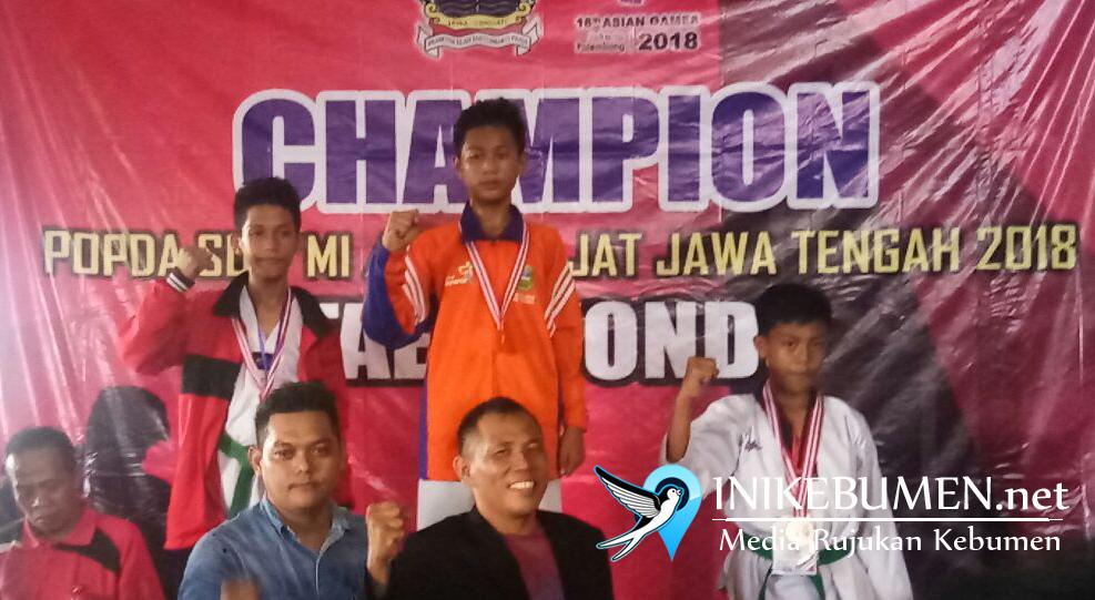 Taekwondo Sumbang Emas Pertama untuk Kebumen pada POPDA Jateng