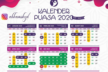 Kalender Puasa 2020 Ramadhan Tahun 1441 - 1442 H