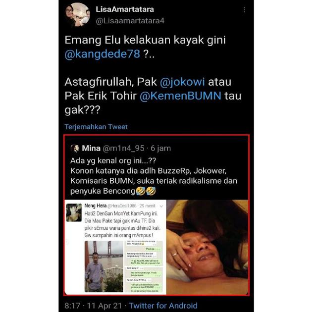 """Beredar Viral Jejak Digital, dr Lisa pertanyakan Komisaris Pelni Kang Dede: """"Emang Elu Kelakuan Kayak Gini?"""""""