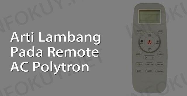 arti lambang pada remote ac polytron