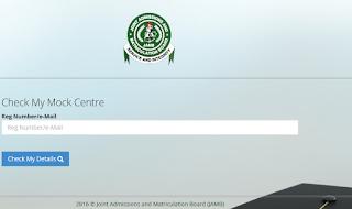 Check JAMB Mock Exam Center Allocation Online Free- jamb.org.ng/MockExam/CheckMockCentre