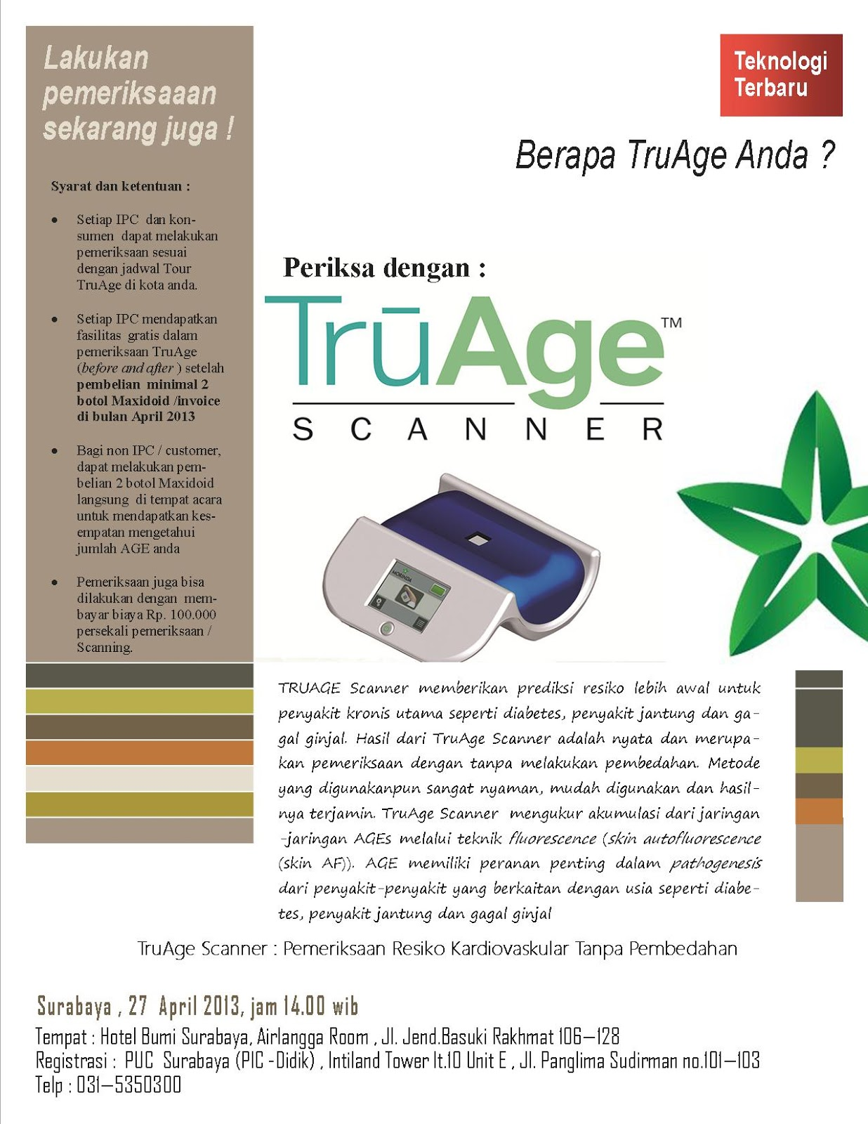 Kantor Tahitian Noni Surabaya Hp Wa O8213oo11945 Alamat 1 Botol Com Yakni Dengan Menghadirkan Sebuah Temuan Baru Untuk Mengukur Usia Tubuh Anda Yang Sebenarnya Tru Age Scanner