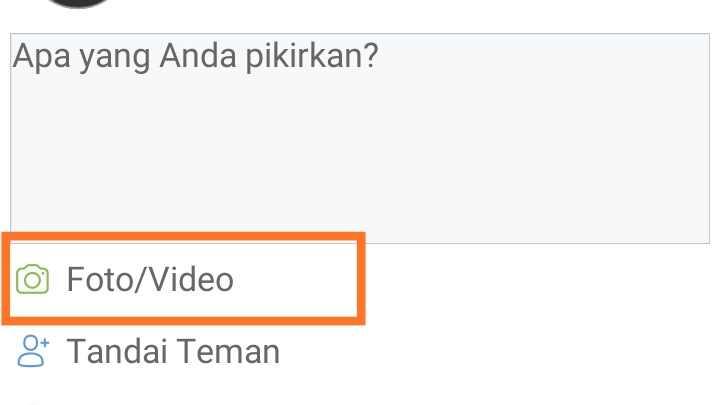 Cara upload video di Facebook Chrome