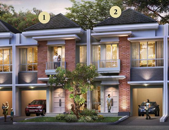 tampak depan rumah minimalis ukuran 7x15 meter 2 kamar tidur 2 lantai