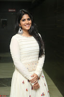 Megha Akash in beautiful White Anarkali Dress at Pre release function of Movie LIE ~ Celebrities Galleries 019.JPG