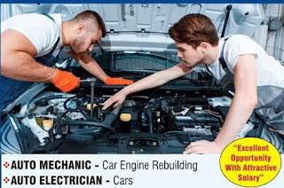 Diesel Mechanics & Auto Electricians Job Recruitment in Hatco Groups Automobile Company Dubai