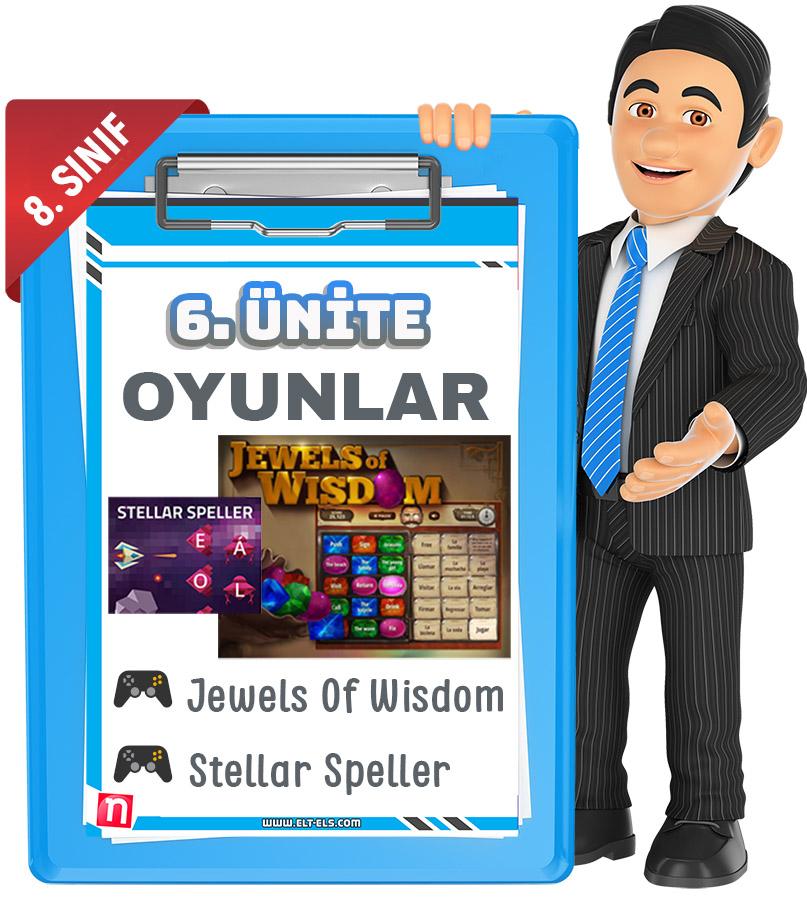 8. sınıf ingilizce kelime oyunları