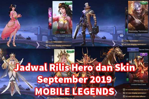 Jadwal Rilis Skin Dan Hero Baru Mobile Legends Bulan September 2019