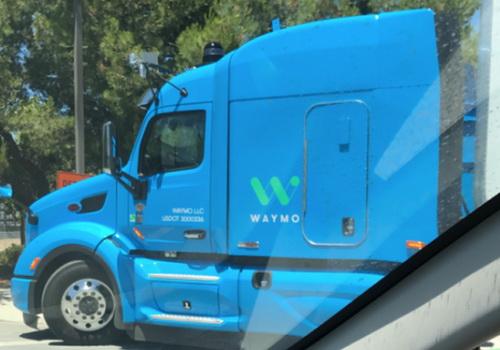 Tinuku Waymo autonomous truck tested on road