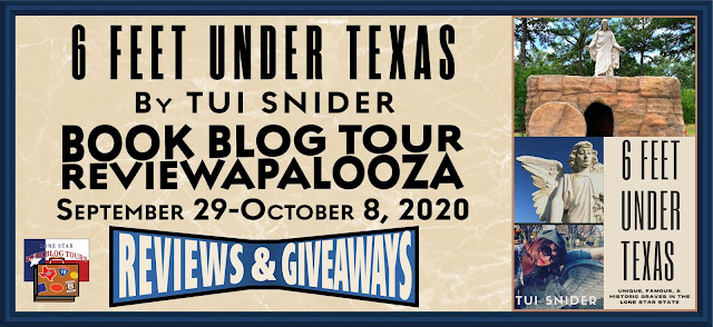 Six Feet Under Texas book blog tour promotion banner