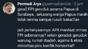 Sebar Hoaks Rusuh Papua, Polisi Harus Tangkap Abu Janda
