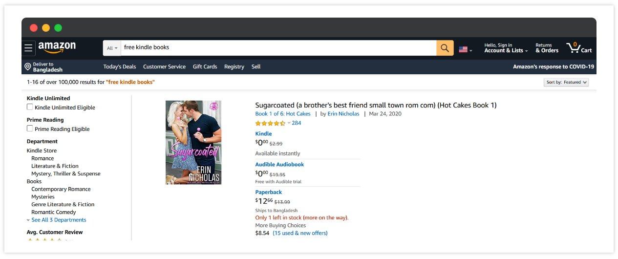 Amazon Free Kindle Books