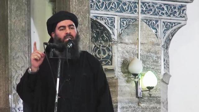 O auto intitulado califa Abu Bakr al Baghdadi, fugiu para a Síria