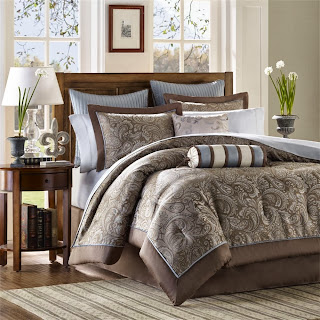 Aubrey 12 Piece Comforter Set Size: Queen