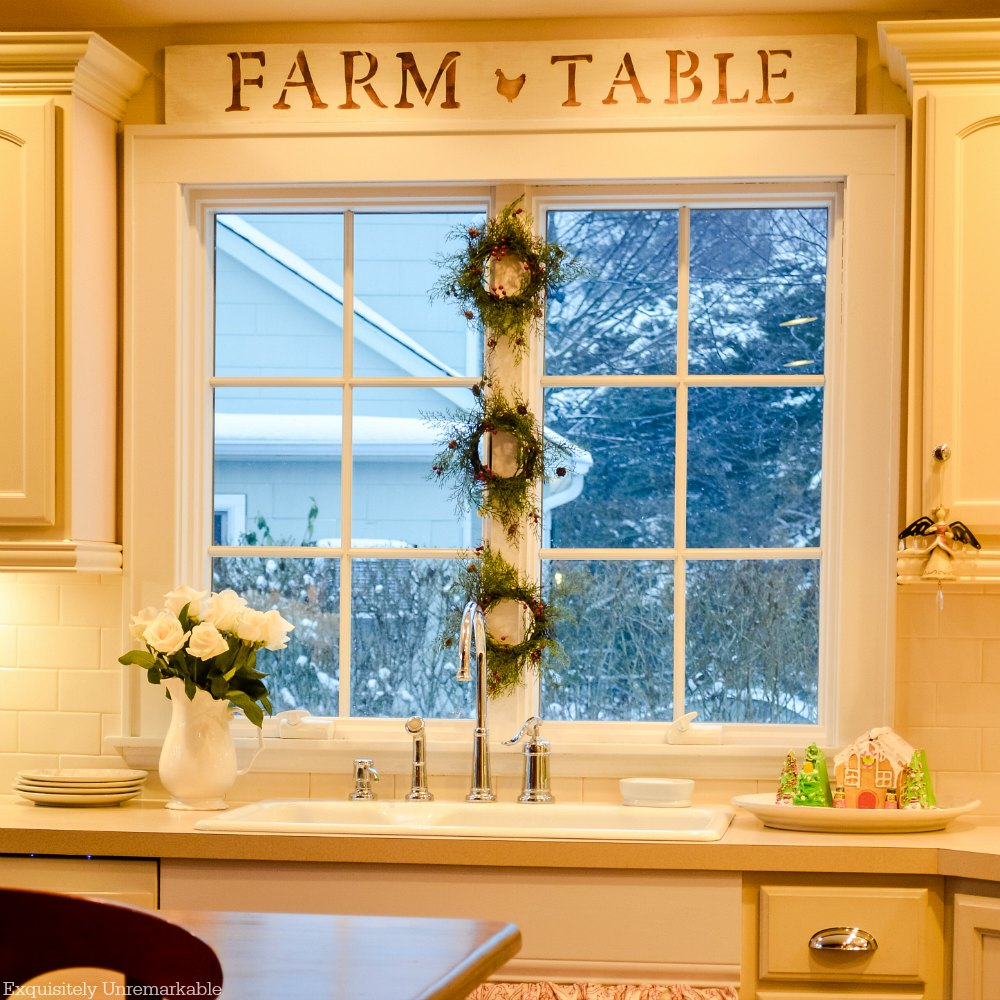 Farmhouse Style Stenciled Kitchen Sign