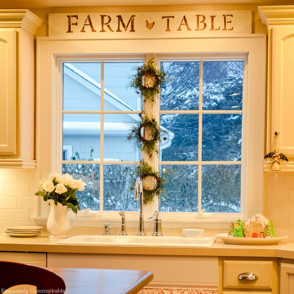 Christmas Kitchen Sink Wreaths