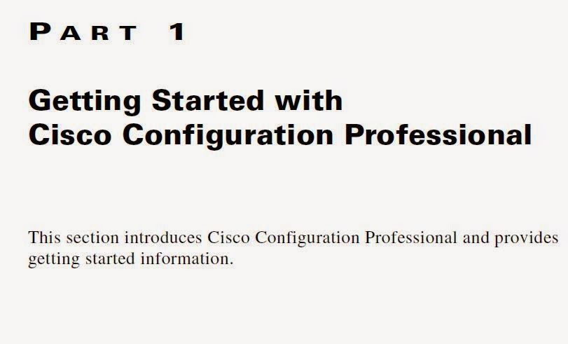 CCNA Security : Cisco Configuration Professional User Guide (Version 2.5)