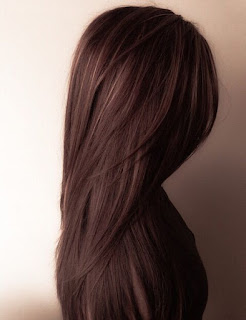 dark chocolate brown hair