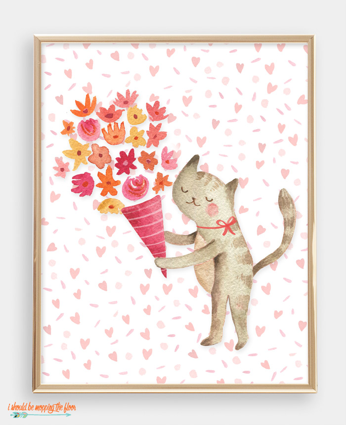 Cat Valentine Printable