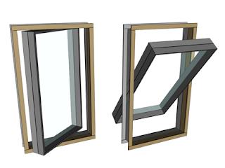 pivoted sash window