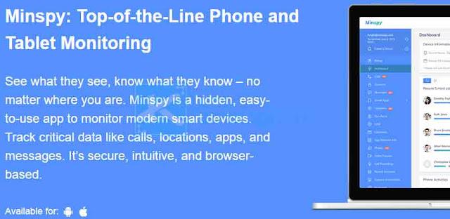 Minspy bekerja melalui web browser Anda, artinya Anda dapat memonitor perangkat target tanpa berada di dekatnya. Anda dapat mengakses data pemantauan dari perangkat apa pun yang mendukung internet - termasuk laptop, smartphone, dan tablet Anda - bahkan ketika Anda sedang bepergian.