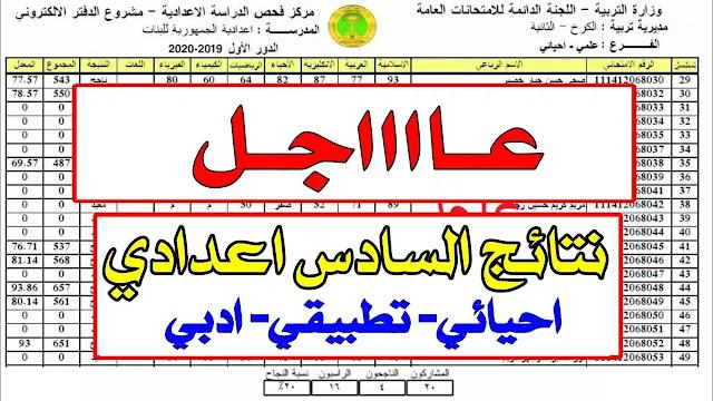 الروابط الرسمية لنتائج السادس الاعدادي 2021 الدور الاول علمي وادبي ومهني واسلامي