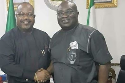 Chief David Ogba Onuoha (Bourdex) with Okezie Ikpeazu