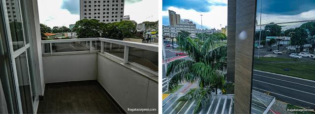 Varanda do apartamento do Hotel Mohave, em Campo Grande (MS)