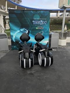 Tron Lightcycle Ride Vehicles Display Magic Kingdom