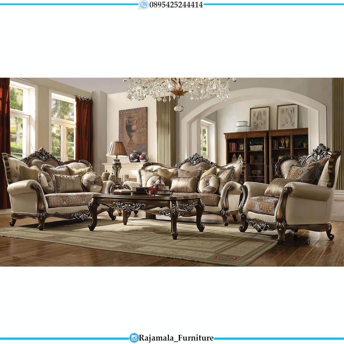 Great Desain Sofa Ruang Tamu Mewah Luxury Carving Classic RM-0729
