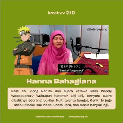 Dubber Legend Indonesia Hanna Bahagiana