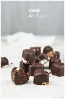 Receta de los mejores Bombones de chocolate y coco aptos para diabéticos- Bombones sin azúcar