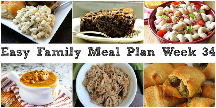 cooking with carlee easy family meal plan week 34