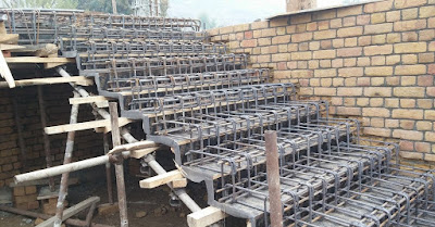 Construcción de escaleras o gradas