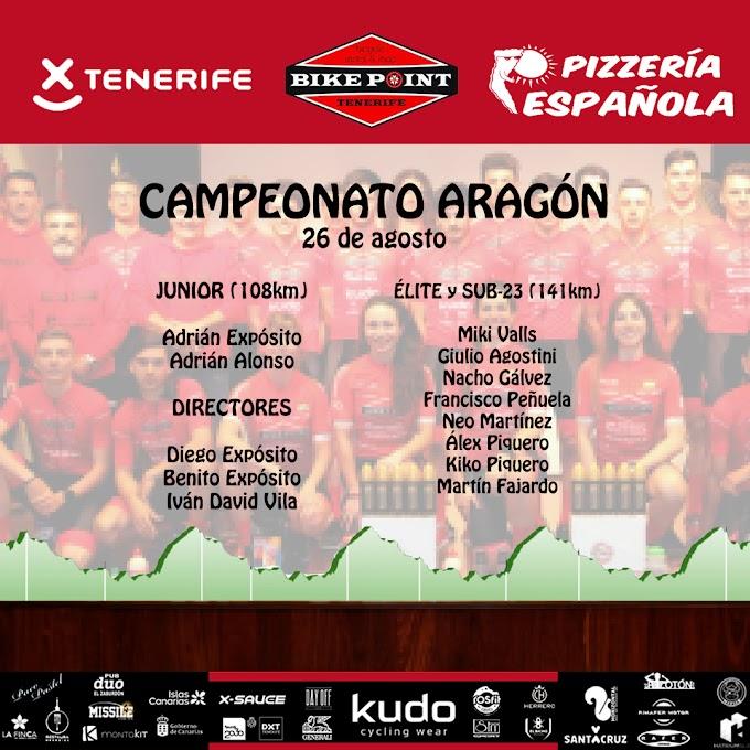 El Tenerife BikePoint Pizzería Española correrá con los juniors, élites y Sub23 en Aragón