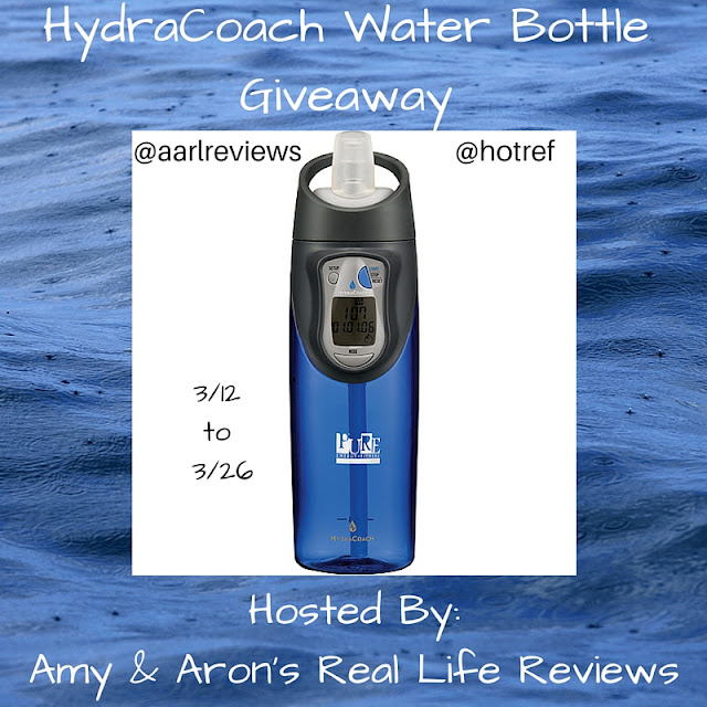 Enter the HydraCoach #Giveaway by 3/26 for your chance to win an Intelligent Water Bottle