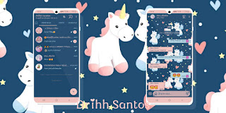 Blue Unicornio Theme For YOWhatsApp & Fouad WhatsApp By Driih Santos