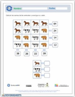 Ficha interactiva: Razonamiento numérico.