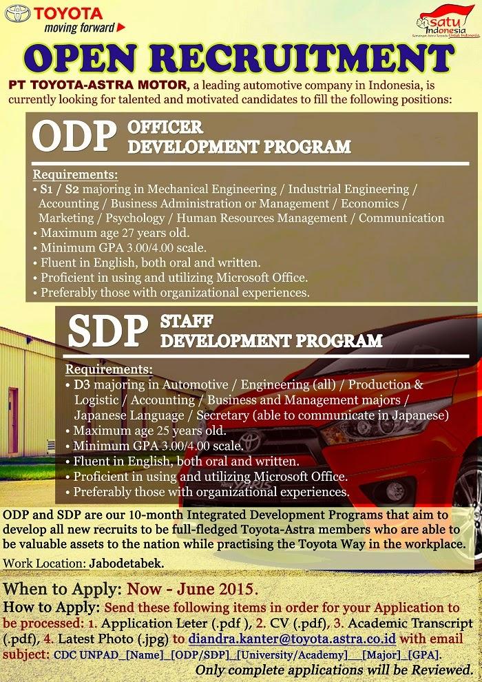 Lowongan Kerja Di Mandiri Semarang 2013 Informasi Lowongan Kerja Loker Terbaru 2016 2017 Lowongan Kerja S1 S2 Pt Toyota Astra Motor Lowongan Kerja Terbaru