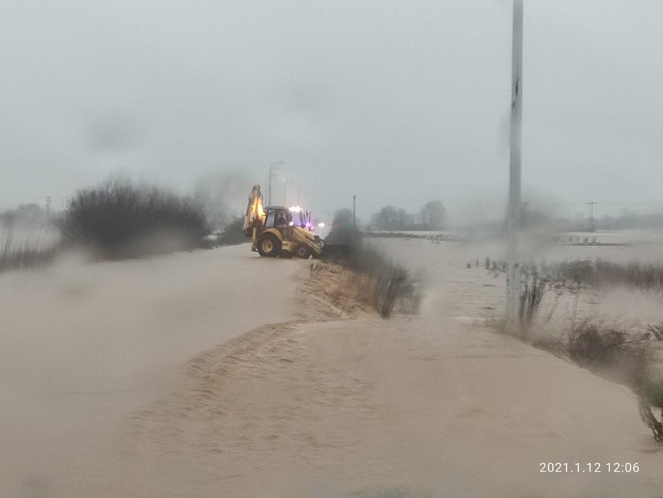 Κακοκαιρία: «Πλημμυρισμένα 110.000 στρέμματα σε Έβρο και Ροδόπη»