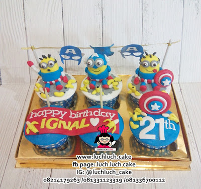 Cupcake Minion Captain America