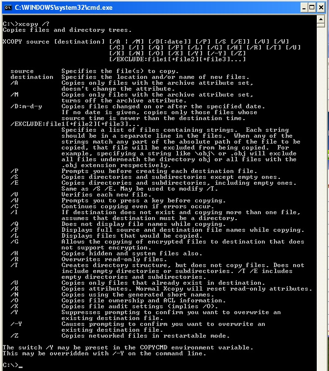 dos-options-and-commands html in qytajo github com | source