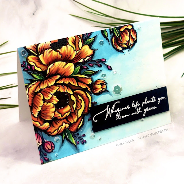 maria willis, #mariawillis, #cardbomb, #ginakdesigns, #stamp, #ink, #paper, #copics, #copicmarkers, #color, #art, #card, #cardmaking, #diy, #handmade, #flower, #majesticpeony, #peony