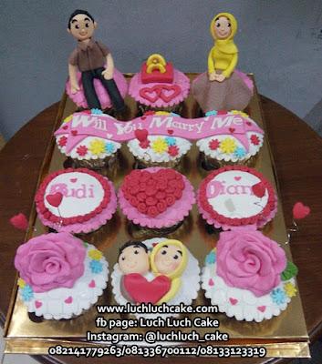 Cupcake Pertunangan Hantaran Pernikahan