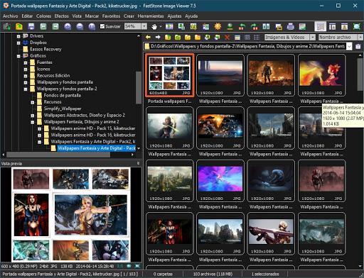 Visor de imágenes alternativo para Windows 10 - Fast Stone Image Viewer